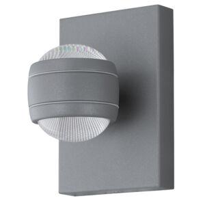 Eglo-Kültéri.LED-es fali lámpa 2x3,7W ezüst Sesimba