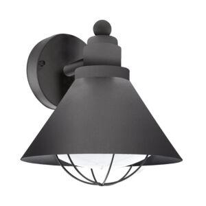 Eglo-Kültériéri fali lámpa E27 1x40Wfekete Barrosela