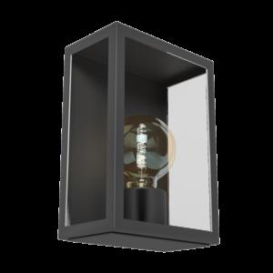 Eglo - Kültéri fali lámpa E27 1x60W fekete/üveg Alamonte 1