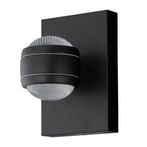 Eglo-Kültéri.LED-es fali lámpa 2x3,7W fekete Sesimba