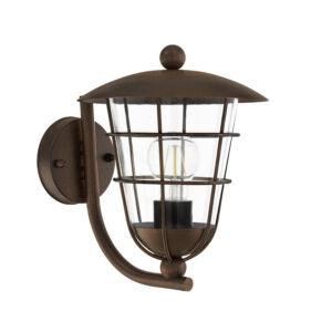 Eglo-Kültériéri fali lámpa felfelé néző E271x60WbarnaPulfero1
