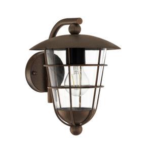 Eglo - Kültéri fali lámpa lefelé néző E271x60W barna Pulfero 1