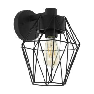 Eglo-Kültériéri fali lámpa E27 fekete/átl.Canove