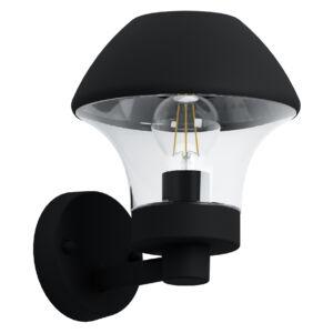 Eglo-Kültériéri fali lámpa E27 fekete/átl.Verlucca