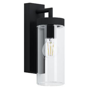 Eglo-Kültériéri fali lámpa E27 fekete/átl.Bovolone