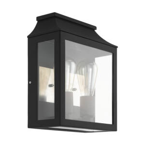 Eglo-Kültériéri fali lámpa E27/2 fekete/átl. Soncino
