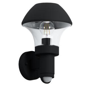 Eglo-Kültéri.fali lámpa E27szenz.fekete/átl.Verlucca