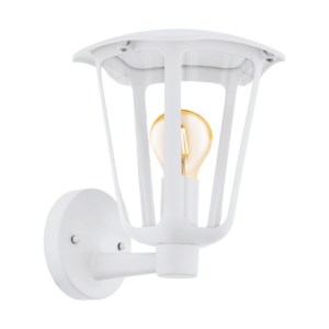 Eglo-Kültéri.fali lámpa felfelé néző E27 1x60W fehér Monreale