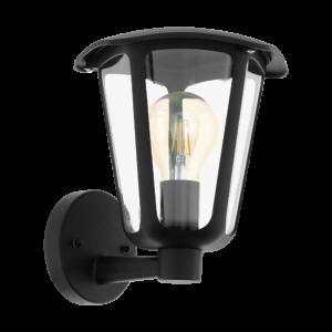 Eglo-Kültéri.fali lámpa felfelé néző E27 1x60Wfekete Monreale