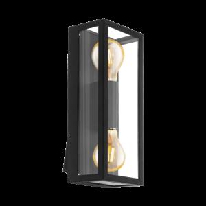 Eglo-Kültéri fali lámpa E27 2x60W fekete Alamonte1
