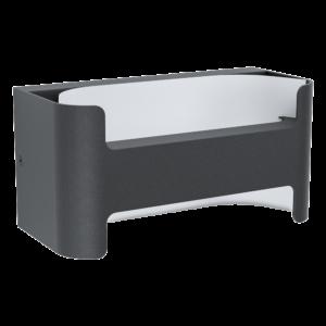 Eglo - LED Kültéri fali lámpa 4,8W IP44 fehér/fekete Passirano