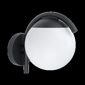 Eglo - Kültéri fali lámpa E271x28WIP44 fekete/fehér Prata Vecchia