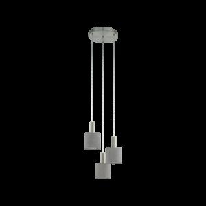Eglo Függesztéke27 3X60Wmnikkel/szürke Concessa2