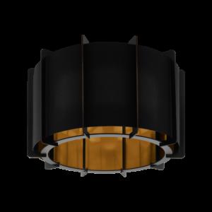 Mennyezeti  E27 1X40Wfekete/aranypineta