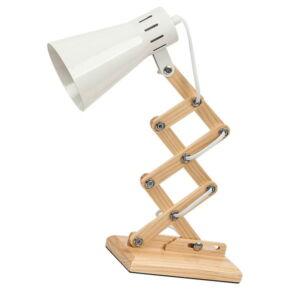 Edgar asztali lámpa E14 max25W fehér+fa - Rábalux