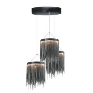 Milagro - CASCATA BLACK - Függeszték 3-as fekete 54W LED