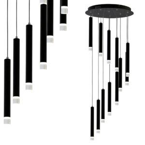 Milagro - CARBON - csillár - fekete