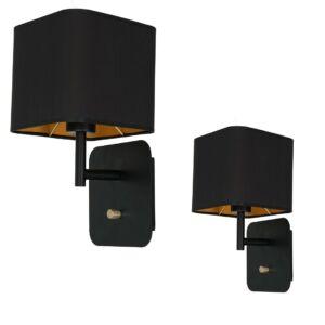Milagro - NAPOLI BLACK - fali lámpa fekete