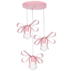 Milagro - EMMA PINK - függeszték gyerekszobai lámpa 3-as rózsaszín 3xE27