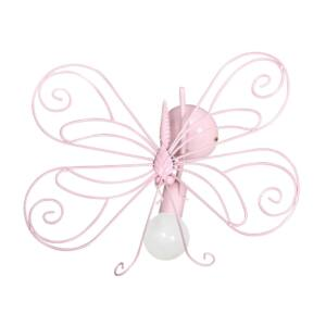 Milagro - MOTYL - fali lámpa gyerekszobai rózsaszín