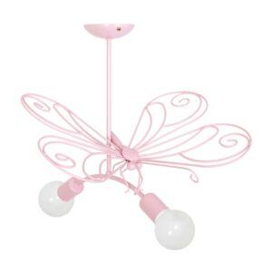 Milagro - MOTYL - függeszték lámpa gyerekszobai rózsaszín 2xE27