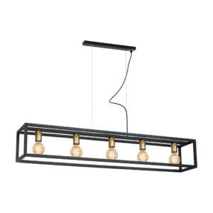 Milagro - CAGE - függeszték lámpa 5-as fekete 5xE27