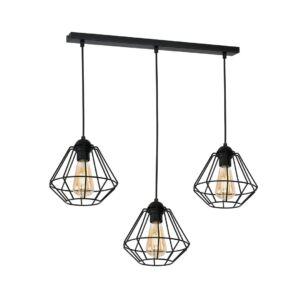 Milagro - COLIN BLACK - függeszték 3-as  lámpa - fekete 3xE27