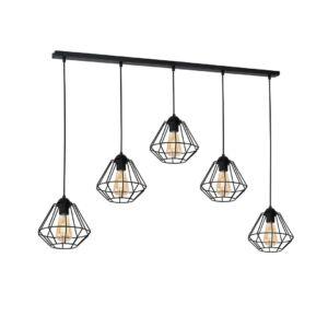 Milagro - COLIN BLACK - függeszték 5-ös  lámpa - fekete 5xE27