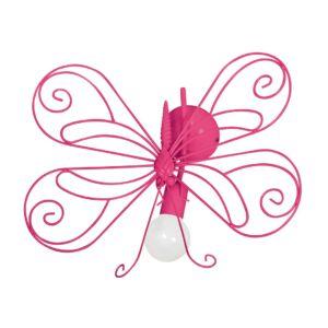 Milagro - MOTYL fali gyerekszobai lámpa rózsaszín