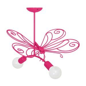 Milagro - MOTYL - függeszték lámpa gyerekszobai sötét rózsaszín 2xE27