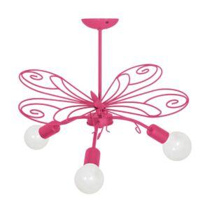 Milagro - MOTYL - függeszték lámpa gyerekszobai sötét rózsaszín 3xE27