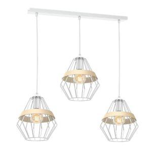Milagro - CLIFF WHITE - függeszték lámpa 3-as - fehér 3xE27