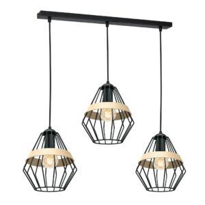 Milagro - CLIFF BLACK - függeszték lámpa 3-as - fekete 3xE27