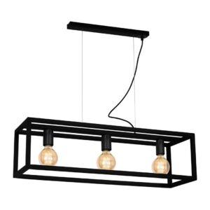 Milagro - CAGE BLACK - függeszték lámpa - fekete 3-as 3xE27