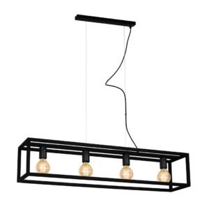 Milagro - CAGE BLACK - függeszték lámpa - fekete 4-es 4xE27