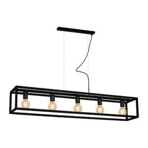 Milagro - CAGE BLACK - függeszték lámpa - fekete 5-es 5xE27