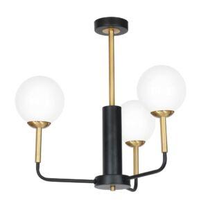 Milagro - GENEVA függeszték lámpa 3-as fekete-arany 3xE14