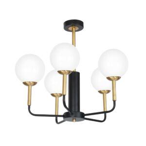 Milagro - GENEVA függeszték lámpa 5-as fekete-arany 5xE14