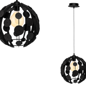 Milagro - GAIA - függeszték lámpa 1-es fekete-fa 1xE27 60W