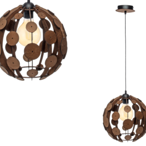 Milagro - GAIA - függeszték lámpa 1-es barna-fa 1xE27 60W
