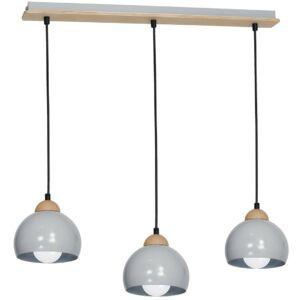 Milagro - Dama Grey - függeszték lámpa 3-es szürke 3xE27
