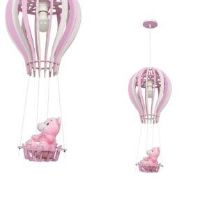 Milagro - BALONIK BLUE - Gyerekszobai függeszték lámpa - rózsaszín 1xE27 60W