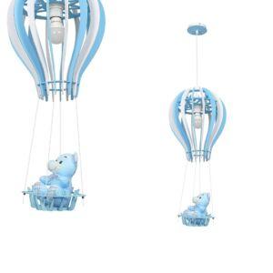 Milagro - BALONIK BLUE - Gyerekszobai függeszték lámpa - kék 1xE27 60W