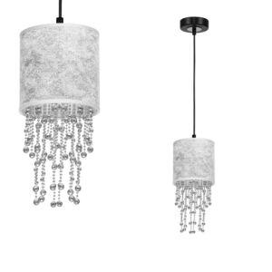 Milagro - ALMERIA függeszték lámpa 1-es ezüst-fekete 1xE27