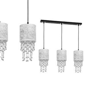 Milagro - ALMERIA függeszték lámpa 3-as ezüst-fekete 3xE27