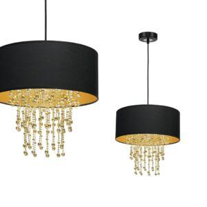 Milagro - ALMERIA - függeszték lámpa 1-es fekete-arany 1xE27