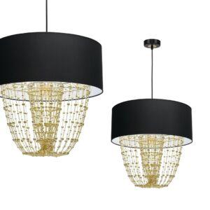 Milagro - ALMERIA függeszték lámpa 1-es fekete-arany 1xE27