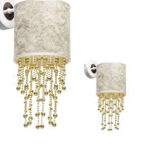 Milagro - ALMERIA - fali lámpa - fehér,szürke-arany