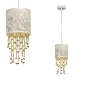 Milagro - ALMERIA - függeszték lámpa 1-es fehér-arany 1xE27