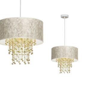 Milagro - ALMERIA függeszték lámpa 1-es fehér-arany 1xE27